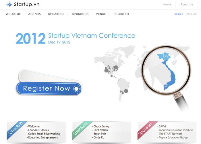 เว็บไซต์งาน Starup.vn